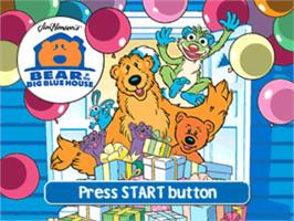 Title screen of Bear in the Big Blue House on the Sony Playstation.