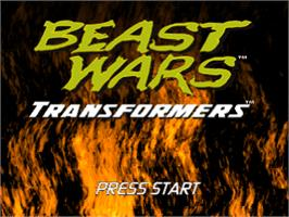 Title screen of Beast Wars: Transformers on the Sony Playstation.
