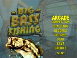 Title screen of Big Bass Fishing on the Sony Playstation.