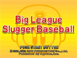 Title screen of Big League Slugger Baseball on the Sony Playstation.