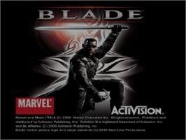 Title screen of Blade on the Sony Playstation.