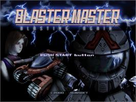 Title screen of Blaster Master: Blasting Again on the Sony Playstation.