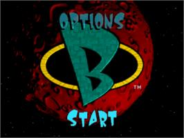 Title screen of Blasto on the Sony Playstation.