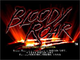 Title screen of Bloody Roar on the Sony Playstation.