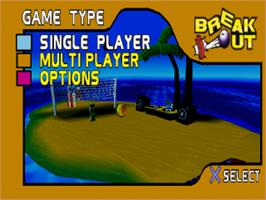 Title screen of Breakout on the Sony Playstation.