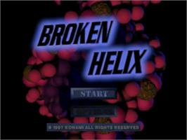 Title screen of Broken Helix on the Sony Playstation.