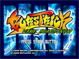 Title screen of BursTrick: Wake Boarding!! on the Sony Playstation.