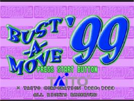 Title screen of Bust-A-Move '99 on the Sony Playstation.