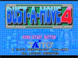 Title screen of Bust-A-Move 4 on the Sony Playstation.