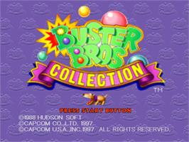 Title screen of Buster Bros. Collection on the Sony Playstation.