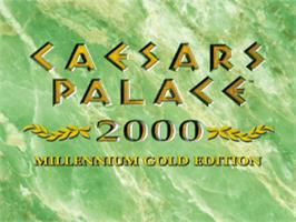 Title screen of Caesars Palace 2000 on the Sony Playstation.