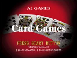 Title screen of Card Games on the Sony Playstation.