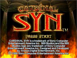 Title screen of Cardinal Syn on the Sony Playstation.