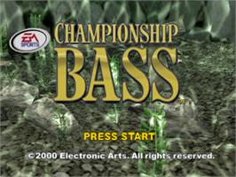 Title screen of Championship Bass on the Sony Playstation.