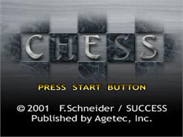 Title screen of Chess on the Sony Playstation.