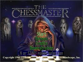 Title screen of Chessmaster 3-D on the Sony Playstation.