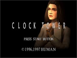 Title screen of Clock Tower on the Sony Playstation.