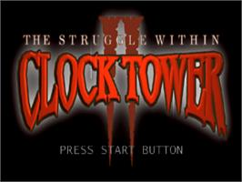 Title screen of Clock Tower 2: The Struggle Within on the Sony Playstation.