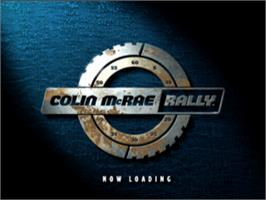 Title screen of Colin McRae Rally on the Sony Playstation.