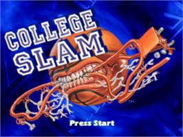 Title screen of College Slam on the Sony Playstation.