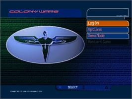 Title screen of Colony Wars: Vengeance on the Sony Playstation.
