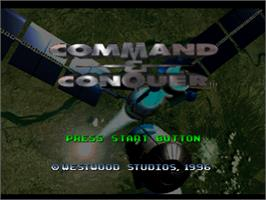 Title screen of Command & Conquer: Red Alert on the Sony Playstation.