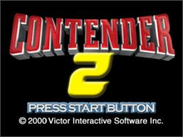 Title screen of Contender 2 on the Sony Playstation.