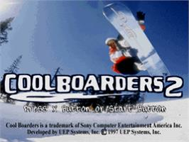 Title screen of Cool Boarders 2 on the Sony Playstation.