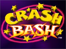 Title screen of Crash Bash on the Sony Playstation.