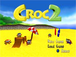 Title screen of Croc 2 on the Sony Playstation.