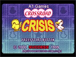 Title screen of Crossroad Crisis on the Sony Playstation.