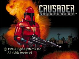 Title screen of Crusader: No Remorse on the Sony Playstation.