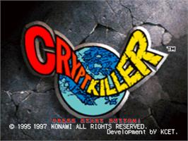 Title screen of Crypt Killer on the Sony Playstation.