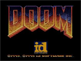 Title screen of DOOM on the Sony Playstation.