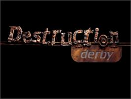 Title screen of Destruction Derby on the Sony Playstation.