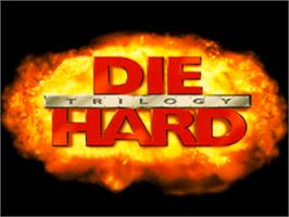 Title screen of Die Hard Trilogy on the Sony Playstation.