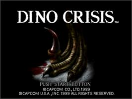 Title screen of Dino Crisis on the Sony Playstation.