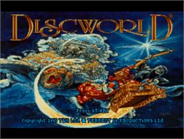 Title screen of Discworld on the Sony Playstation.