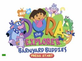 Title screen of Dora the Explorer: Barnyard Buddies on the Sony Playstation.