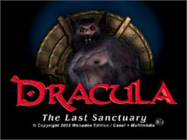 Title screen of Dracula: The Last Sanctuary on the Sony Playstation.