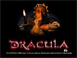 Title screen of Dracula: The Resurrection on the Sony Playstation.