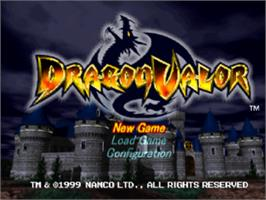 Title screen of Dragon Valor on the Sony Playstation.