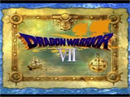 Title screen of Dragon Warrior VII on the Sony Playstation.