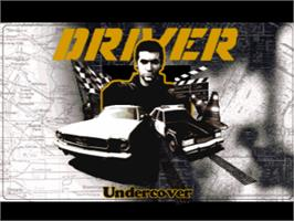 Title screen of Driver on the Sony Playstation.