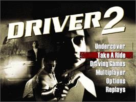 Title screen of Driver 2 on the Sony Playstation.