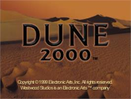 Title screen of Dune 2000 on the Sony Playstation.