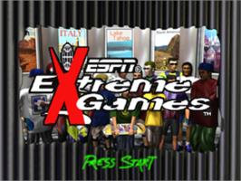 Title screen of ESPN Extreme Games on the Sony Playstation.