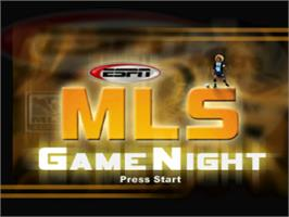 Title screen of ESPN MLS GameNight on the Sony Playstation.