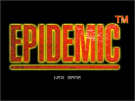 Title screen of Epidemic on the Sony Playstation.