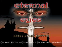Title screen of Eternal Eyes on the Sony Playstation.